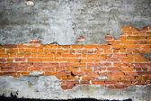 Peeled stucco brick — Stock Photo