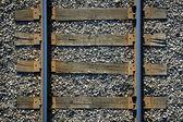 Nahtlose hintergrund, schwellen und schienen eisenbahn — Stockfoto