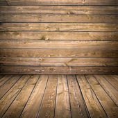 Cottage wooden room — Stock Photo