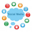 Stock Photo: Social Mediicons