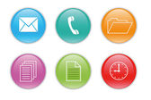Colorful icons for the web — Stock Photo