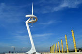 Calatrava tower - Barcelona — Stock Photo