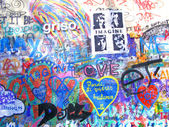John Lennon Wall, Prague — Stock Photo