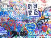 John Lennon Wall, Prague — Stock Photo