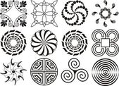 Twelve black & white designs — Foto de Stock