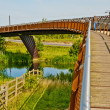 Foot bridge & Cycle way — Stock Photo