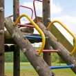 Childrens wooden climbing frame — Stock Photo