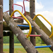 Stock Photo: Childrens wooden climbing frame