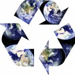 Planet Earth recycled — Stock Photo
