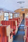 Inside old carriage — Stock Photo