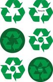 Design elements of green recycle arrows — Stock Vector