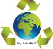 Recycle the world — Vector de stock