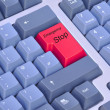 Emergency stop on a computer keyboard — Stock Photo