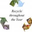 Recycle throughout the year — Stock Photo