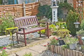 Back garden in England — Stock Photo