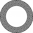Ancient circular design 2 — Stock Vector