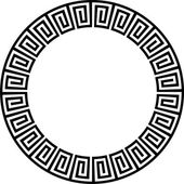 Ancient circular design — Vector de stock