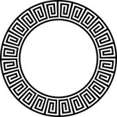 Ancient circular design 2 — Vector de stock