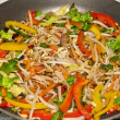 Stock Photo: Mixed Pepper and beansprout stir fry