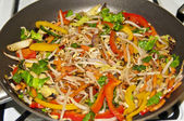 Mixed Pepper and beansprout stir fry — Foto de Stock