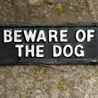 Beware of the dog sign — Stock Photo #9875813