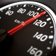 Close up of car speed meter — Stock Photo #10610300