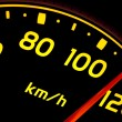 Close up of car speed meter — Stock Photo #10610318