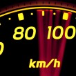Stock Photo: Close up of car speed meter