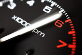 Rev counter of a car .Tachemeter close up. — Stock Photo