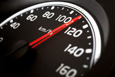 Close up of car speed meter — Stock Photo