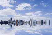 Chicago skyline reflexion. — Stockfoto