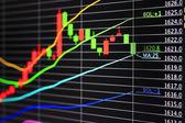 Gold market chart — Stock Photo