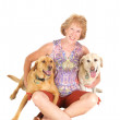 Woman with her dogs — Stock Photo #10478181