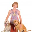Woman with her dogs — Stock Photo #10478183