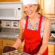 Chef with cookies — Stock Photo