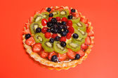 Mixed fruit tart — Stock Photo