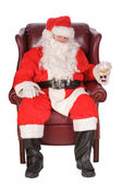 Santa enjoying a rest — Foto de Stock