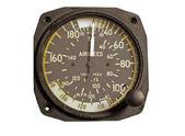 Antique airspeed indicator — Stock Photo