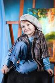 Portrait of a happy small boy — Stock Photo