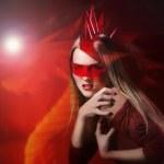 Glamour girl dragon symbol 2012 — Stock Photo #8682920
