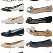 Collection of women's shoes — Foto de Stock