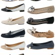 Collection of women's shoes — Stock Photo