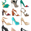 Collection of fashionable women's shoes — Stock Photo