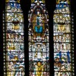 Mosaic window in basilique Notre Dame de Fourviere, Lyon, Fr — Stock Photo #8560224