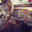 Inside in a old car - Stock Photo