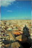 The shadow of the Giralda, Seville, Spain — Stock Photo