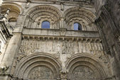 Facade to the door Platerias of the Santiago de Compostela cathe — Stock Photo