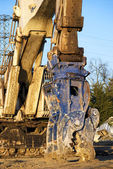 Detail of demolition machine — Stock Photo