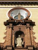 Facade to church of San Bernardo — Stock Photo