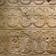 Old egypt symbols carved on the stone — ストック写真